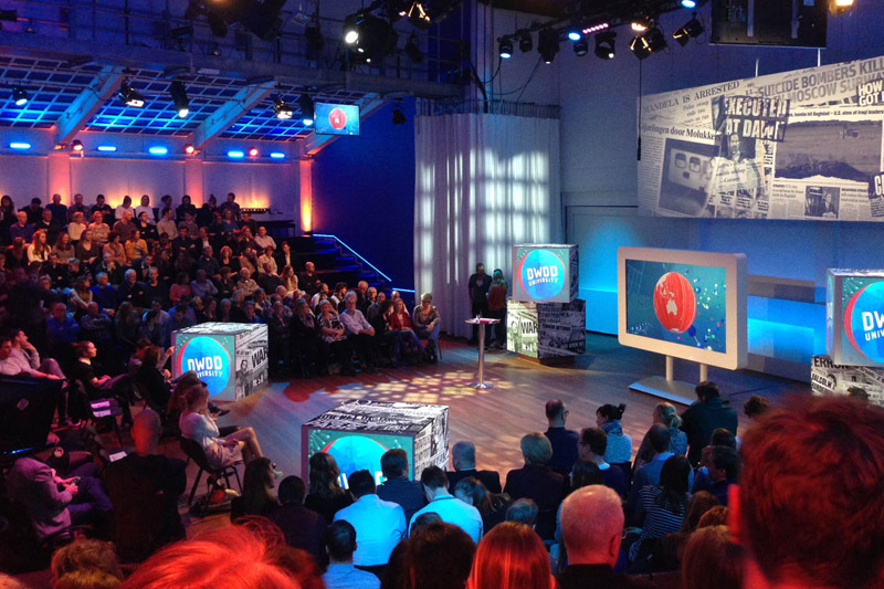 Verhuur Podium Mozaiek - TV opnames in theaterzaal